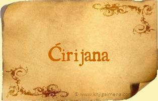 Ime Ćirijana