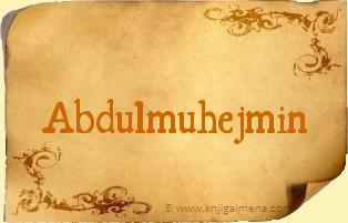 Ime Abdulmuhejmin