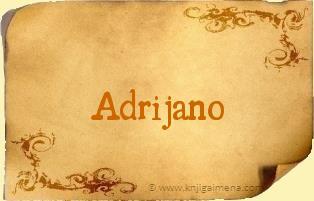 Ime Adrijano