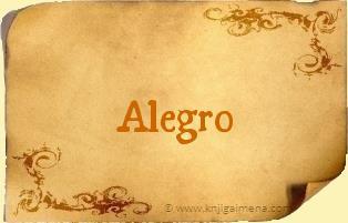 Ime Alegro