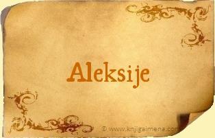 Ime Aleksije