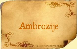 Ime Ambrozije
