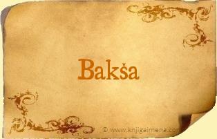 Ime Bakša