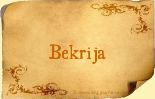 Ime Bekrija