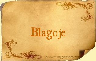Ime Blagoje