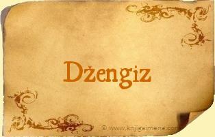 Ime Džengiz