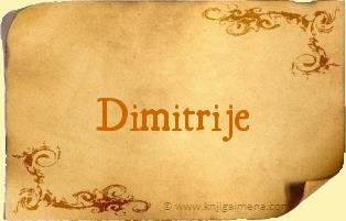 Ime Dimitrije