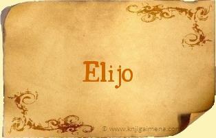 Ime Elijo