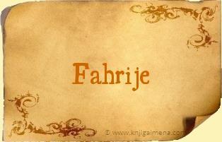 Ime Fahrije