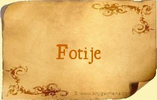 Ime Fotije