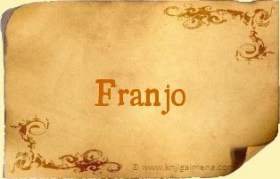 Ime Franjo