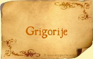 Ime Grigorije