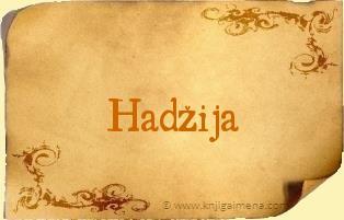 Ime Hadžija
