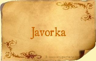 Ime Javorka