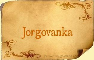 Ime Jorgovanka