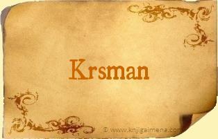 Ime Krsman