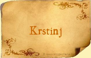 Ime Krstinj
