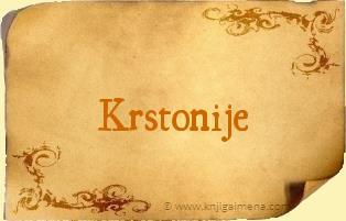 Ime Krstonije