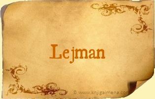 Ime Lejman