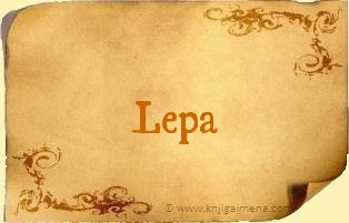 Ime Lepa