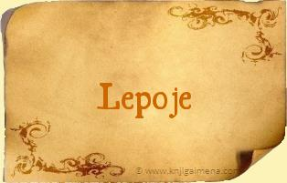 Ime Lepoje
