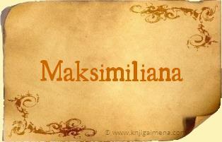 Ime Maksimiliana