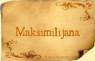 Ime Maksimilijana