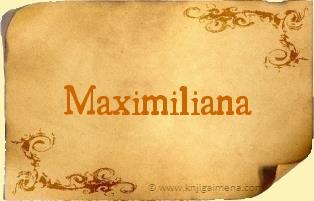 Ime Maximiliana