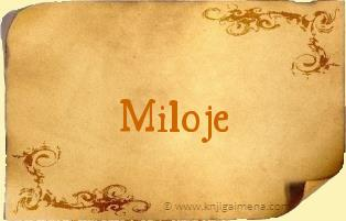 Ime Miloje