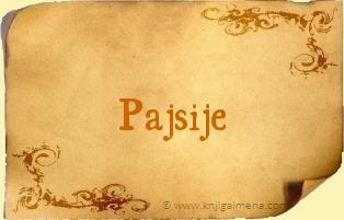 Ime Pajsije