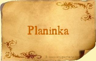Ime Planinka