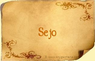 Ime Sejo