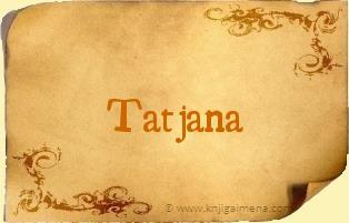 Ime Tatjana